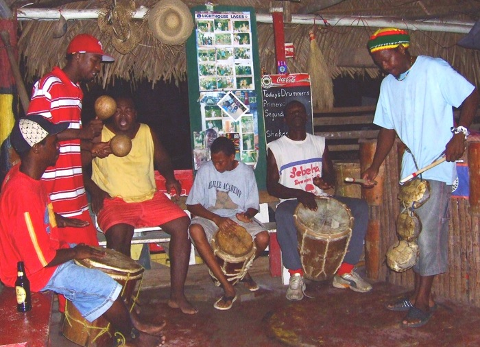 Local drummers (a few from the Lebeha Group) at one of their evening performances