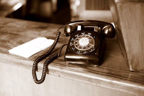Rotary phone by Clemson @Flickr