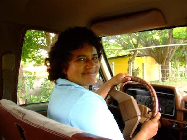 Edelma, the female taxi driver