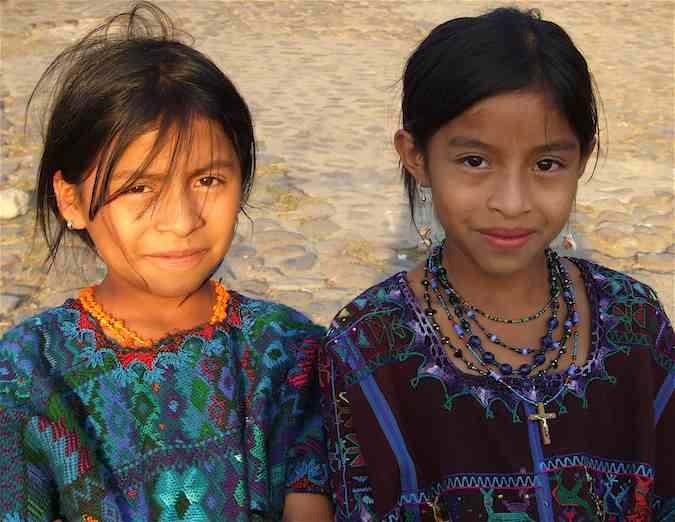Lake Atitlan girls up close