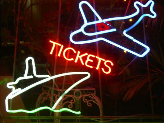 Neon Tickets Sign