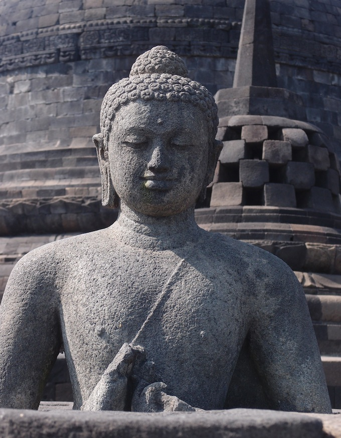 Borobudur Buddha and Stupa