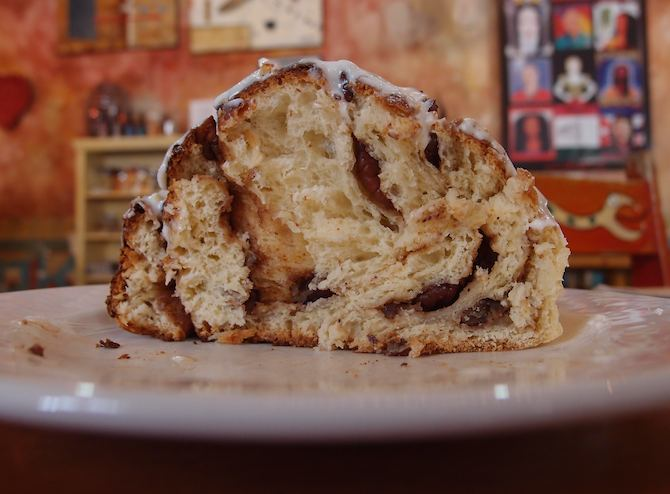 Huge cinnamon roll