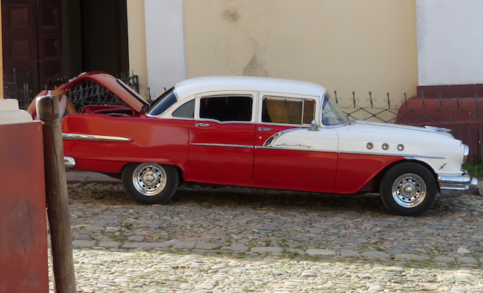 Red Cuban Car